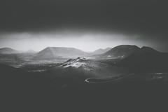 Timanfaya Landscape, Lanzarote (Tim Bow Photography) Tags: light shadow cloud landscape photography volcano adventure british welsh blackandwhitephotography lavafield timanfaya volcaniclandscape timanfayanationalpark lanzarotelandscape blackandwhitelandscapephotography timboss81 timbowphotography welshtravelphotographer visitlanzarote