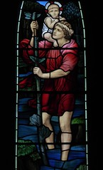 St Christopher (Aidan McRae Thomson) Tags: lichfield church staffordshire stainedglass window preraphaelite morrisco johnhenrydearle