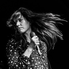Josefin Ohrn and the liberation. (Indie Images) Tags: josefinohrnandtheliberation lunarfestival lunarfestival2016 birminghamreview indieimagesphotography photosbyindieimages livemusic livemusicphotographer gig festival festivalgirl mono monochrome blackandwhiteimage hair female femaleleadsinger femalesinger onstage stagelights nikon