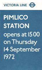 pimlico station notice 1972 (smallritual) Tags: victorialine london underground tube pimlico 1972 johnstone