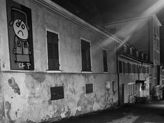 Small city night 2 (Paramedix) Tags: bw sw black white schwarz weis monochrome city germany badenwrttemberg deutschland olympus em5 mft night nacht