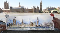 London.BigBen and Parliament.SBower2016 (stephanieabower) Tags: housesofparliament bigben stephaniebower theurbansketchinghandbookunderstandingperspective