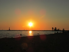 Sunset @ Pere Marquette Park (creed_400) Tags: peremarquettepark muskegon west michigan lakeshore park sand water lake summer july sunset dusk shoreline