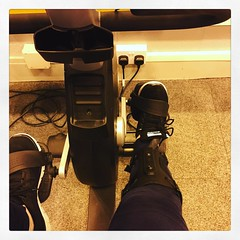 Photo of Friday night gym and swim. I'm beyond thrilled that I can use an exercise bike. Perhaps a real bike is next?!