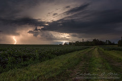 Lightning Crashing (Christopher A Mills Photography) Tags: maine lightning beautiful night stormchasing explore adventure aroostookcounty christopheramills clouds field