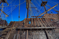 _DSC5658 Rigging, Spanish Galleon (Charles Bonham) Tags: baycitytallshipscelebration tallships baycitymi saginawriver saginawbay sonya7r ropes rigging sails cannon birdsnest wood sonyzeissfe1635mmf4 charlesbonhamphotography sailboats sailing elgaleonandalusia