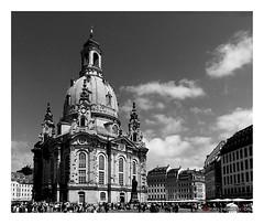 Frauenkirche Dresden - Germany (mikael.heinrichson) Tags: mikaelheinrichson panasonic dmcfz200 blackwhitepassionaward flickrtravelaward flickrunitedaward