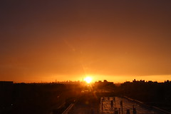 2016July25 (2) (ShellyS) Tags: sunset sunsets skyline skylines nyc newyorkcity manhattan queens sky clouds