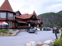 Soelvgarden Hotel. (topzdk) Tags: motorcycle mc norway honda bmw nature solvgardencottages brokke rysstad 2016 summer