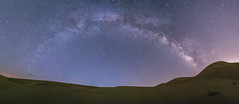 Panorama of the Milky Way Over Glamis Sand Dunes (slworking2) Tags: brawley california unitedstates us panorama glamis dunes sand osborneoverlook milkyway galaxy nighttime nightsky desert