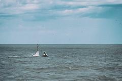 Defying Gravity (Plonq) Tags: water jet levitate lake sky clouds gimli manitoba