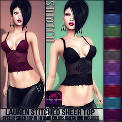Sn@tch Lauren Stitched Top Darks Vendor Ad LG (Tess-Ivey Deschanel) Tags: sntch snatch secondlife sl second style sexy life clothing clothes costumes clubwear casual couture mesh model meshclothing meshclothes models omegasystem outfits omega summer cyberpunk iveydeschanel ivey ihearts specials new newrelease newreleases punk pixels deschanel
