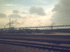indiana is a wasteland (leidio) Tags: indiana gary industry factory steel plant railroad amtrak lakeshore dunes pollution smog industrial poison toxic