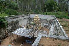 Maraleshwar Temple with the moat to keep out the sand (VinayakH) Tags: talakad karnataka india temple hindu chola gangadynasty hoysala carvings vaidyeshvara kirtinarayana