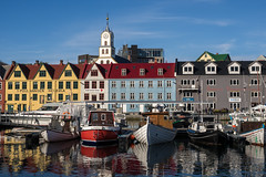 Colorful Trshavn (Aymeric Gouin) Tags: faroe faroeislands fro ilesfro froyar building architecture color couleur boat bateau reflection reflet capital travel voyage cityscape city ville water eau miroir mirror olympus omd em10 europe northerneurope torshavn streymoy aymgo aymericgouin