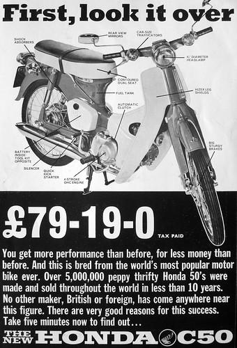 Honda  C50  ad  -  1967