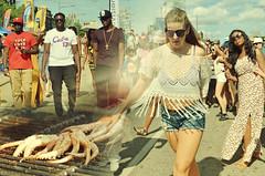 Tassels & Squid (Kim Yokota) Tags: salsaonstclair summer streetphotography streetfestival composite candid squid woman men people toronto ontario canada nikond7000 nikonafsnikkor2470mmf28gifed outdoor