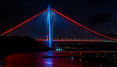 UMT_7740-2 (UmitCukurel) Tags: bridge turkey istanbul bosphorus sony nikon lightroom d750 sonyalpha bogazici kopru night poyrazkoy battleship gemi sky sunset dusk gunbatimi cloud