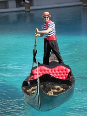 The Venetian Las Vegas (kenjet) Tags: hotel lv vegas lasvegas thestrip lasvegasstrip venetian venetianhotel vacation weekend travel gondola gondolier ride water waterway stripe stripes outfit