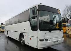 RJZ 4782 (welsh coach) Tags: west wet up rain wales yard grey for this volvo is coach day exterior williams sale sold interior south cymru here east depot welsh typical standard 53 seen premier mid coaches currently powys monmouthshire brecons seater plaxton 4782 rjz