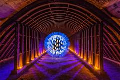 Underground .... (Mike Ridley.) Tags: longexposure lightpainting underground tunnel culvert lightpainted mikeridley lightorb