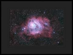 Lagoon Nebula (Mike O'Day) Tags: nikon 10 ngc az lagoon astro nebula astrophotography m8 astronomy 5300 messier f4 quattro 254 astrophotograph newtonian baader mpcc skywatcher uhcs 6523 astrograph pixinsight eq6 astrometrydotnet:status=solved baadermpcc astrometrydotnet:id=nova1504278