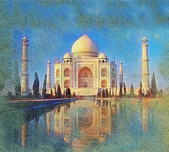 taj mahal from an original photo under CC2.0/by/ licensed by crazy_foolish4u @flickr