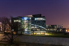 Sanofi (Stphane Slo) Tags: longexposure architecture nightlights lyon pentax nuit batiments poselongue k30