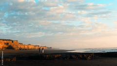 (*paz) Tags: chile blue sunset sea summer people love water yellow atardecer playa porma teodoroschmidt