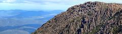 Panorama view - Cliff of Dolerite columns (Organ Pipes), Summit Mount Wellington, Tasmania (neeravbhatt) Tags: cliff view pipes columns panoramic mount organ wellington summit tasmania dolerite