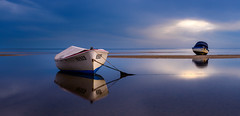 Boats At Peace (aldog1977) Tags: reflection beach water clouds boats long exposure waves slow wezza