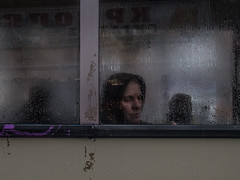 (Sakis Dazanis) Tags: street windows bus window wet glass streetphotography olympus oldlady steamed omd behindglass steamywindows em5 dazanis