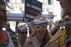 Tinfoil Hat Territory (Generik11) Tags: sf costumes people music signs art comedy politics religion humor parade frankchu sfist aprilfoolsday ststupidsday firstchurchofthelastlaugh 04012015