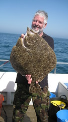 "Andy Sheader with his new boat record Turbot of 10lbs 9ozs • <a style=""font-size:0.8em;"" href=""http://www.flickr.com/photos/113772263@N05/17166467175/"" target=""_blank"">View on Flickr</a>"