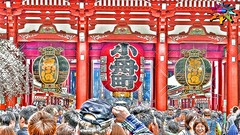Spring in Tokyo=9=Asakusa Kannon Temple, Tokyo (tiokliaw) Tags: world city people holiday colour reflection travelling beautiful beauty japan digital photoshop buildings wonderful tokyo interesting fantastic nikon scenery holidays colours exercise earth expression object awesome perspective entrance images architectural explore walkway winner greatshot historical imagination sensational digitalcamera greetings colourful dslr discovery hdr finest overview creations excellence infocus addon highquality inyoureyes teamworks digitalcameraclub supershot hellobuddy inyoureye iloveyourart mywinners mywinner worldbest anawesomeshot colorphotoaward aplusphoto flickraward almostanything goldstaraward thebestofday flickrlovers nikonflickraward sensationalcreations blinkagain burtalshot