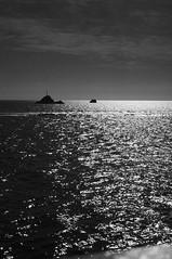 Boot Formentera (mboeters) Tags: reflection water zonsondergang zwartwit zee ibiza amateur zwart wit formentera eiland reflectie oceaan ferryboot