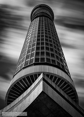 Reincarnation (Fred-Adams) Tags: city longexposure urban bw london architecture skyscraper modernism monochromatic lookup bttower brutalism modernist brutal postofficetower londonarchitecture fredfredadamsphotographycom
