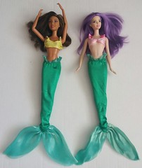 Original Disneystore compare to China (Just a Nobody) Tags: mermaid doll barbie fashions ariel little disney china aliexpress ebay knock rip off copy