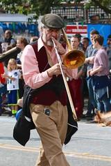 Fremont Solstice 2016  2196 (khaufle) Tags: solstice fremont wa usa hat parade trombone