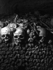 The Catacombs (lukedrich_photography) Tags: sony dscw55 sonydscw55 history culture paris       france       francia frankreich europe european europa     frenchrepublic rpubliquefranaise westerneurope  catacombs catacombes ossuary ossuaries remains grave mine tunnel underground cemetery parismusees crypt mausoleum plague death dead skull bone