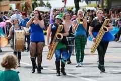Fremont Solstice 2016  2124 (khaufle) Tags: solstice fremont wa usa marchingband parade saxaphone drum