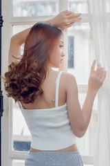 Window light (Kenneth Back) Tags: sexy girl bangkok beautiful cute model thai lingling namkhing thailand