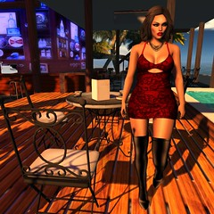 Cafe Addict (--- FEARSUM ---) Tags: slink hourglass physique tonic eve belleza maitreya tmp shops fitted mesh dress mini lace pattern fabric