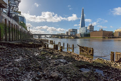 Low Tide (scarlet-pimp) Tags: timeoutlondon londonist londonbridge towerbridge canon shard theshard clouds timeout visitlondon london hmsbelfast canon5d canon5dmarkiii places sky riverthames mud thethames lowtide riverbank