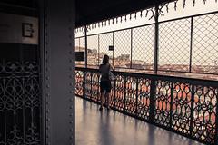 Le point de vue... (Gilderic Photography) Tags: lisbonne portugal lisbon view woman girl architecture canon eos 500d gilderic ascenseur lift elevador lisboa santajusta