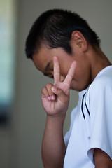 Peace (kyle_gallagher) Tags: school portrait japan peace    135mmf2
