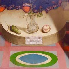 les accessoires (1) (canecrabe) Tags: vierge dtail concombre pche agostinomarti bouquet albericomalaspinaregolo huile bois panneau peinture