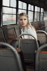 Vlada (ivankopchenov) Tags: girl portrait cute canon beautiful natural naturallight model mood melancholy sadness sorrow people face dark fineart soft shadow noir light eos young lonely hair summer warm 35mm outdoor sensual gentle train windows