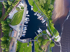 Bowling Harbour (BillBarclayl) Tags: scotland water aerialphotography