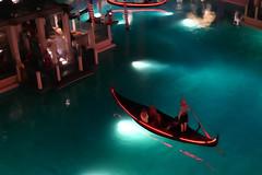Nighttime Gondola (Jeremetrius O'Claire) Tags: nighttime gondola water river pond lake moon light moonlight night row boat float romance romantic dock pier skyline sky sunset sunrise ride ship oar watercolor color